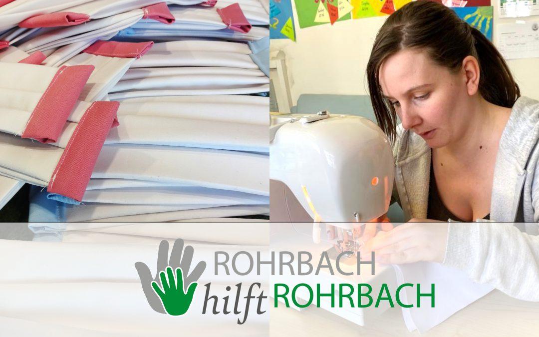 Gut gerüstet: Behelfsmasken von der Gemeinde Rohrbach