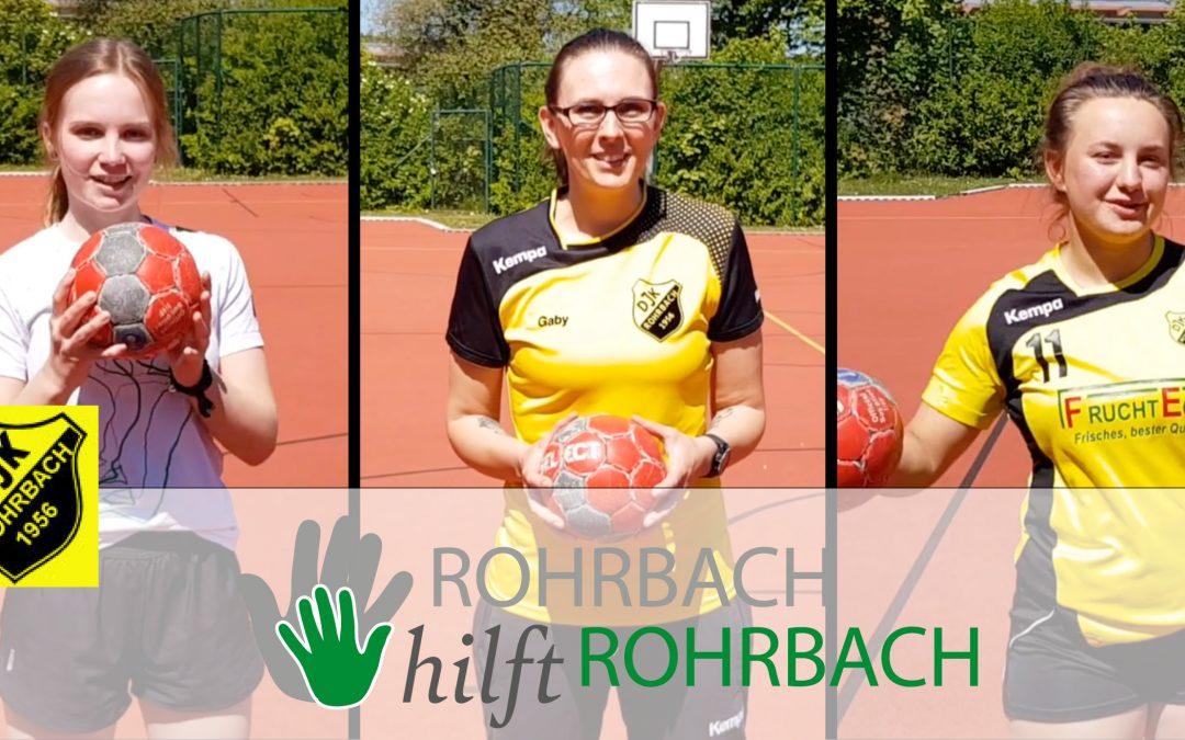 Fangen, Werfen, Weitersagen: der DJK-Handball trainiert mit Euch daheim