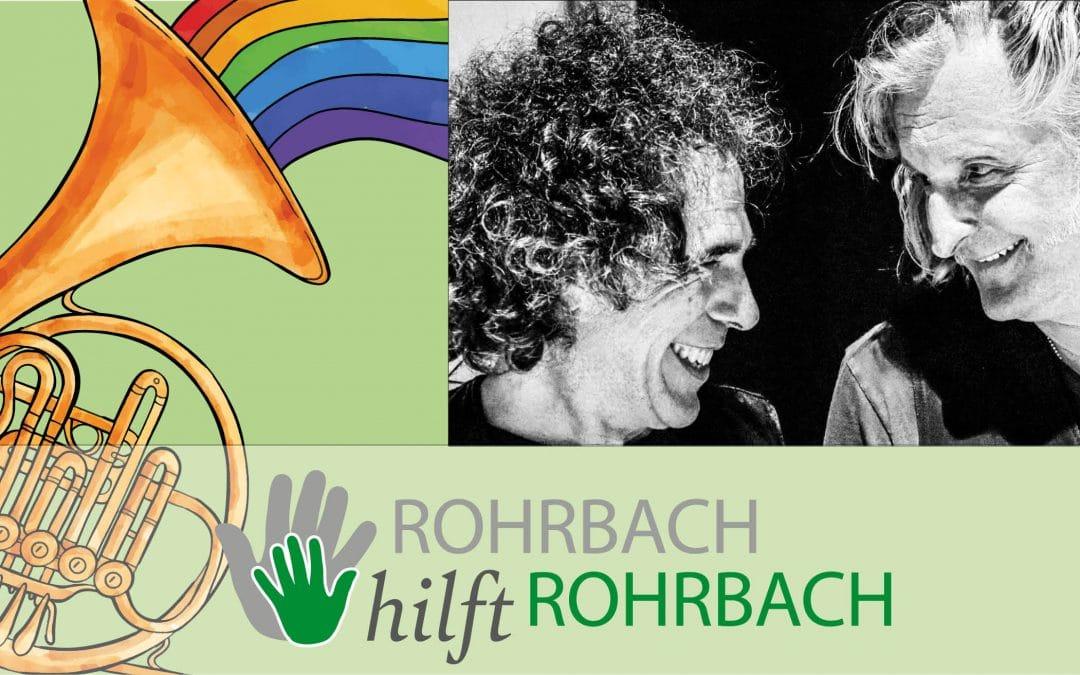 OPEN-AIR-Wochenende! Rohrbacher Blaskapelle und Blues-Konzert mit Sir Oliver Mally & Hubert Hofherr