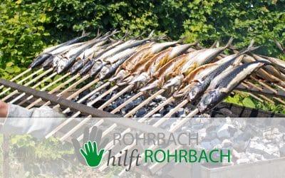 Steckerlfisch vom ASV Rohrbach bei REWE Wieselhuber