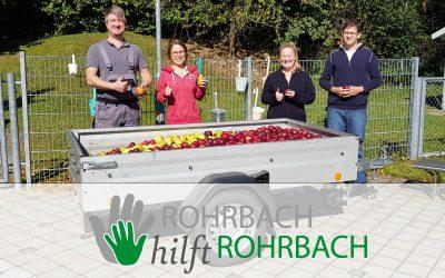 """WIR SAGEN """"DANKE"""" – Rohrbacher Apfelspende war richtig klasse!"""