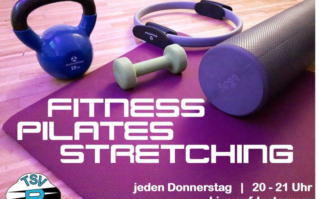 "Kostenloser Onlinekurs ""Fitness-Pilates-Stretching mit Bettina""– TSV bewegt Rohrbach"