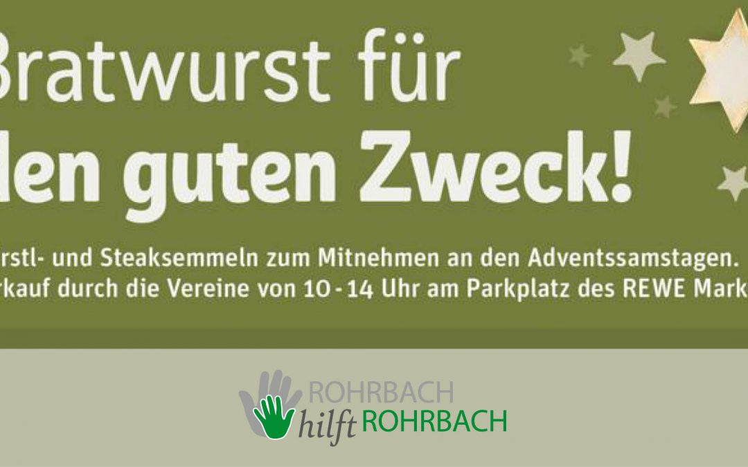Würste für den guten Zweck – Rohrbacher Vereine vernetzen sich