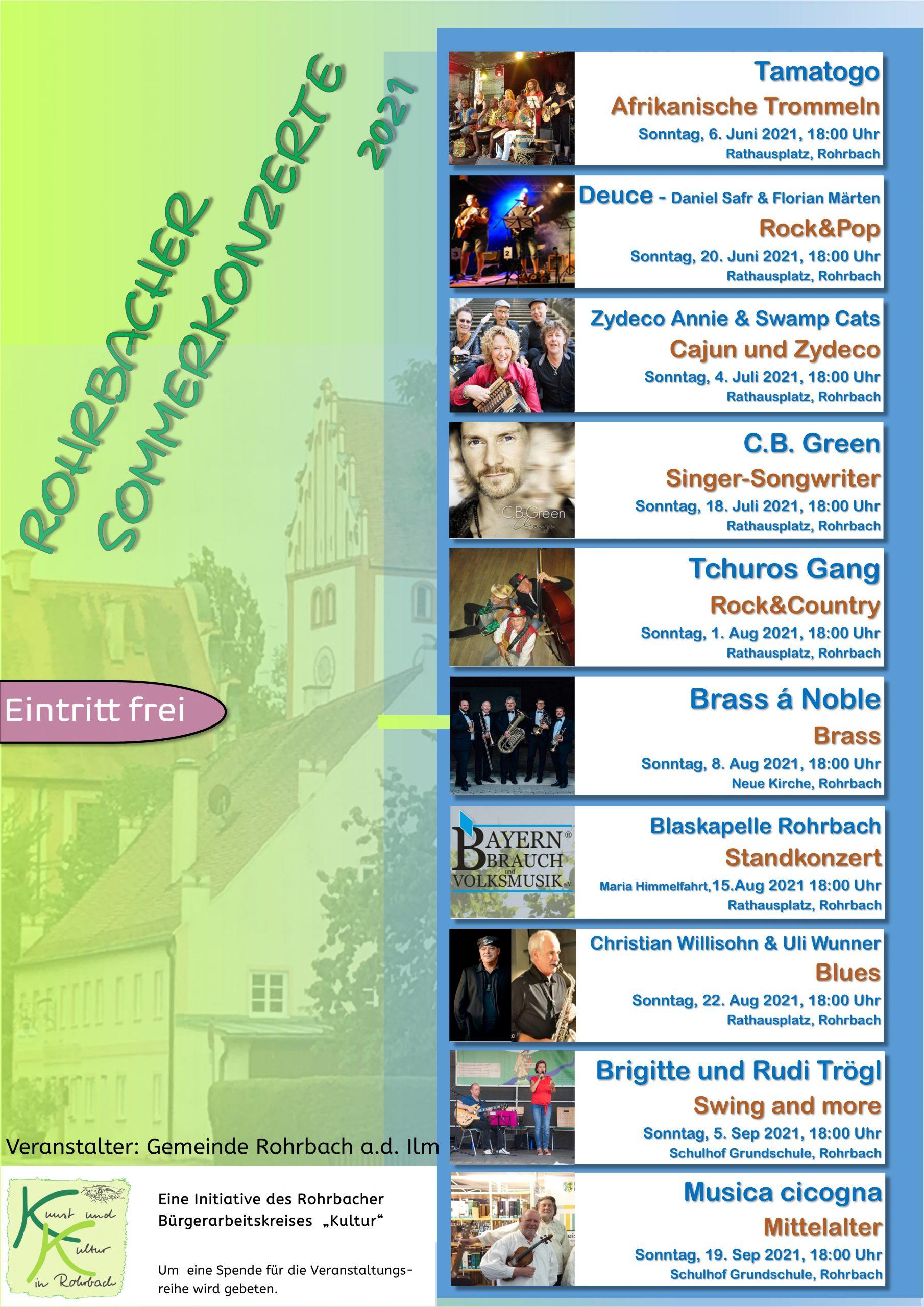 Plakat Sommerkonzerte